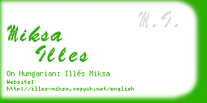 miksa illes business card